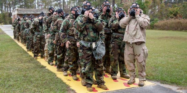 'Even the brave cry here': Marines in North Carolina put their gas masks to the test