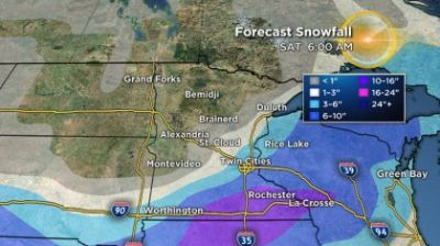 Significant Snowfall & Strong Winds To Hit Southern Minn. Overnight