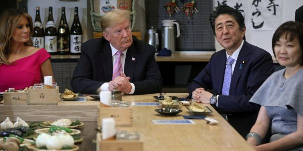 Trump will eat potatoes, ice cream, and rare, super expensive beef as he sits down for dinner with the Japanese prime minister