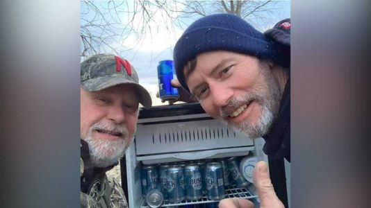 Two men find fridge full of ice-cold beers in devastating Nebraska flooding