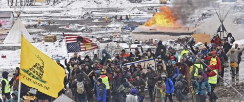 North Dakota officials plead with last protesters to leave