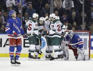 Wild end 5-game slide with 4-1 victory over the Rangers