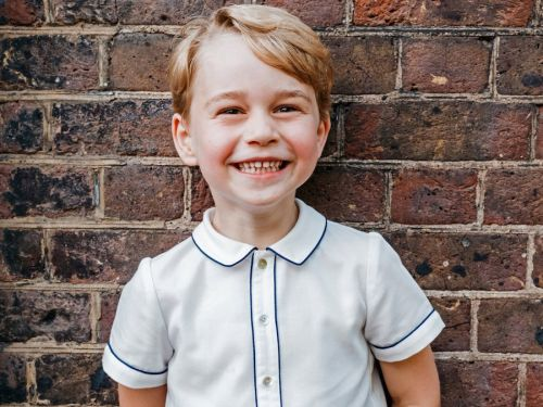 Britain's Prince George beams in photo marking his 5th birthday