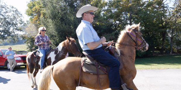 Roy Moore rode up on horseback to cast his vote in Alabama's special election