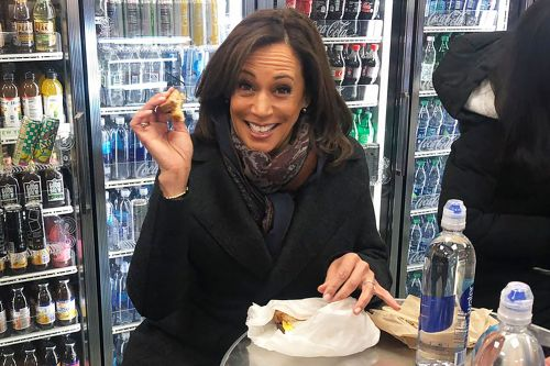 Kamala Harris makes stop at Penn Station after announcing presidential bid