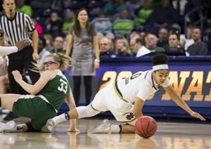 No. 2 Notre Dame women cruise past Binghamton 103-53