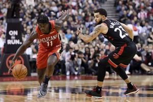 Davis has 25 points, 20 boards, Pelicans top Raptors 126-110