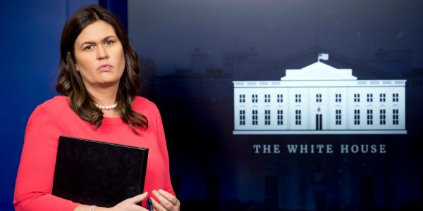 'Is the president aware that this is about police-involved shootings?': Sarah Huckabee Sanders grilled over Trump's snub of Eagles