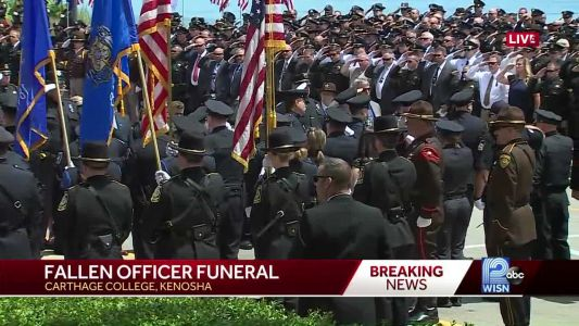 LIVE: Funeral procession leads Racine Officer John Hetland to final resting place