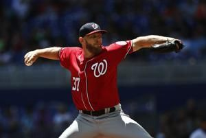Strasburg Ks 11 in 8 innings as Nationals beat Marlins 5-0
