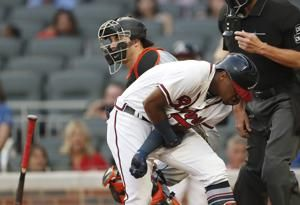 Acuna hit by Urena's first pitch; Braves, Marlins scuffle
