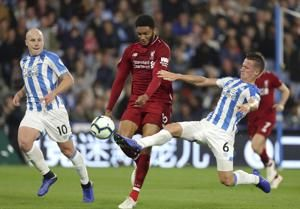 Salah scores in Liverpool's 1-0 win at Huddersfield in EPL