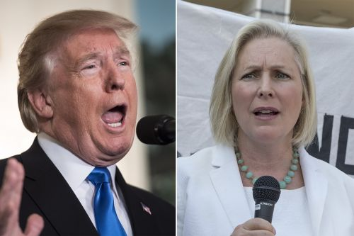 Trump sends suggestive tweet about Gillibrand for calling for his resignation