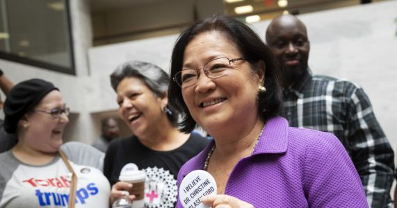Sen. Hirono in spotlight after call for men to 'step up'