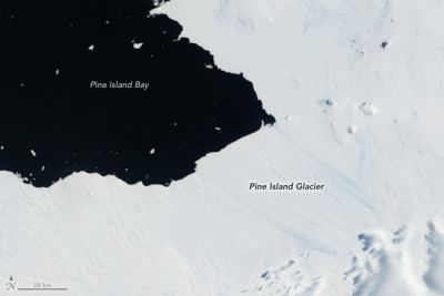 Block of sea ice calves from Antarctic glacier with potential to raise global sea levels by two feet