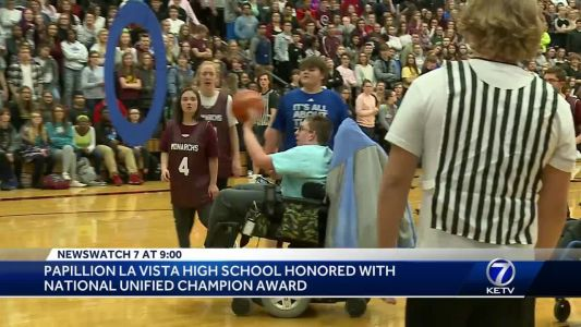 Papillion La Vista High School receives award from Special Olympics