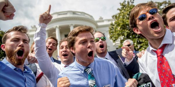 There is mounting speculation that the White House ceremony for Eagles fans did not have any Eagles fans