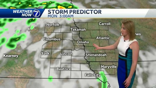 Breezy and warm today, storm chances tonight, cooler tomorrow