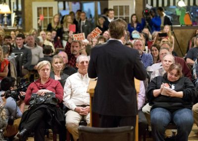 Rep. Brat faces angry constituents, supporters at town hall
