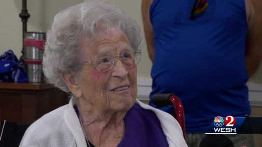 103-year old woman happy to have in-person celebration with family