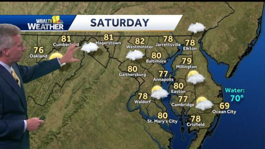 Tom says showers to taper off Friday night
