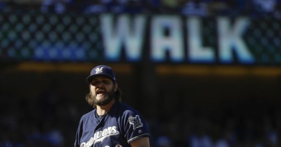 Brewers pull Wade Miley after 1 batter in Game 5 subterfuge