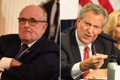 Bill de Blasio wanted to fight with Rudy Giuliani over homelessness