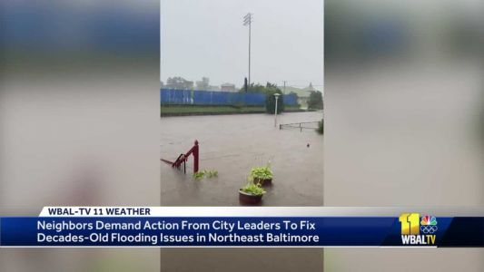 Heavy showers impact city neighborhood known for flooding issues