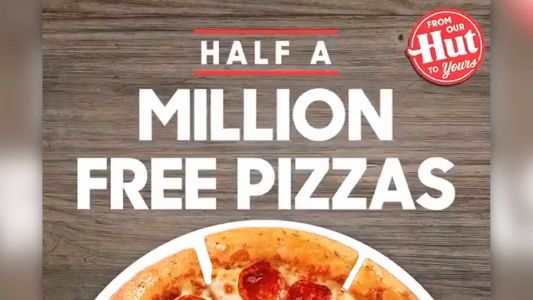 Pizza Hut is giving away 500,000 pizzas to 2020 graduates
