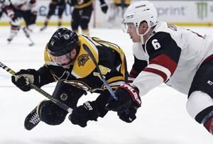 Marchand has 2 goals, 1 assist as Bruins beat Coyotes 4-3