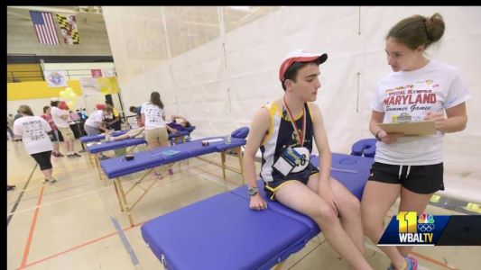 Special Olympics Maryland athlete educates competitors on healthy living