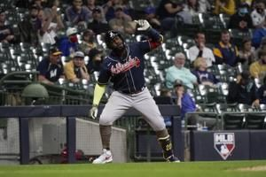 Ozuna, Albies go back-to-back as Braves beat Brewers 6-3