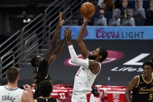 Clippers lead all the way in 115-96 win over Raptors