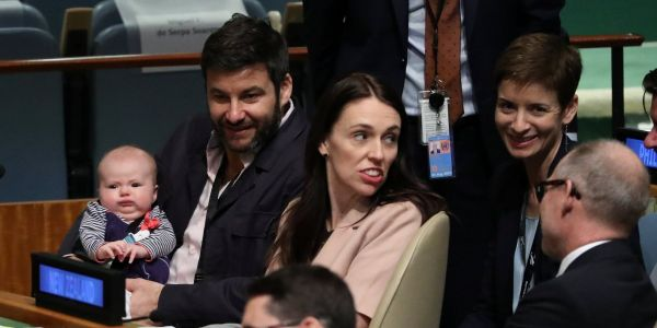 New Zealand's prime minister just became the first female world leader to bring her baby to the UN general assembly