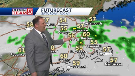 Video: Clouds, showers to start weekend