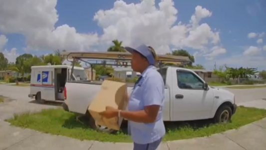 Postal worker caught on camera throwing family's packages