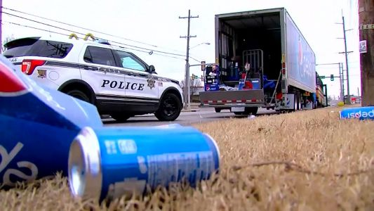 Officer says he followed 'the trail of soda' to catch man who stole 18-wheeler Pepsi truck