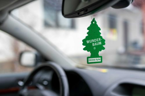 In some states, police can pull you over for hanging an air freshner from your rearview mirror
