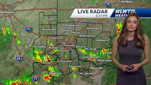 Scattered downpours through the evening