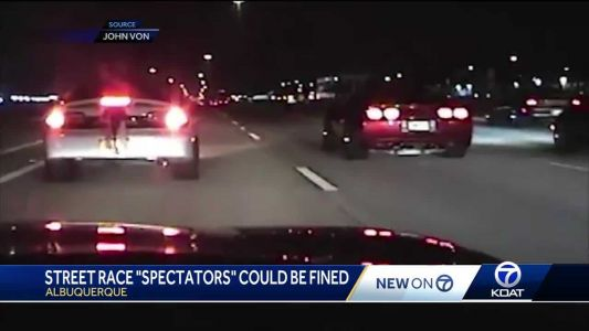 Street racing spectators could be ticketed