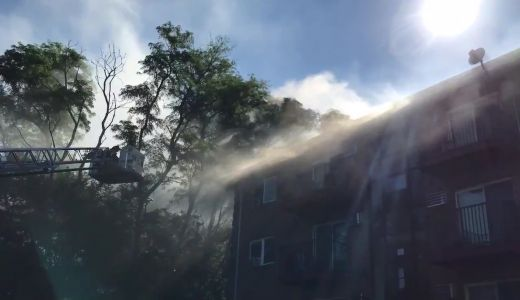 Lawrence firefighters battle three-alarm fire