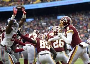 Barkley rushes for 170 yards, Giants rout Redskins 40-16