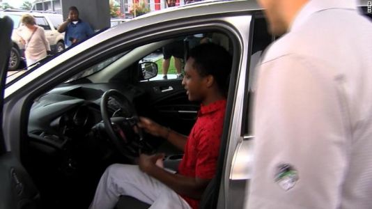 Man who walked 20 miles to work gets CEO's car