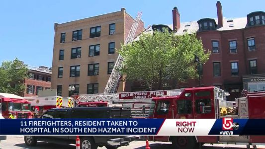 11 firefighters, 1 resident hospitalized after Level 3 Hazmat in South End