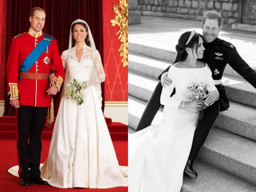 Meghan Markle and Prince Harry's official wedding photos are drastically different from Prince William and Kate Middleton's - see how they compare