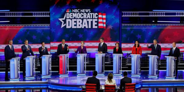Here are the 5 most interesting GoogleTrends from the first 2020 Democratic debate