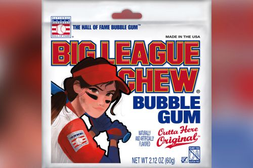 Big League Chew is now selling pouches with female packaging