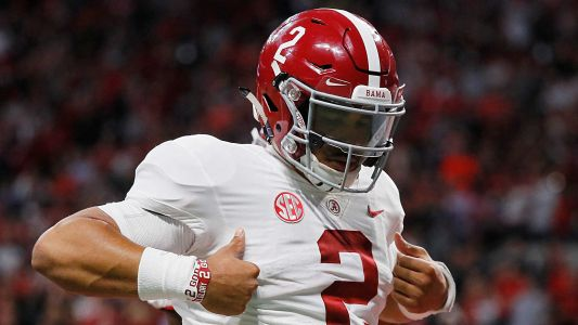 Jalen Hurts' name in NCAA transfer portal; transfer options for Alabama QB