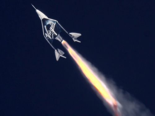 Virgin Galactic just rocketed its first passenger past the edge of space - but Jeff Bezos says its astronauts have 'asterisks' next to their names