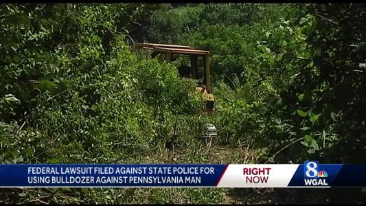 State police sued over bulldozer death of pot suspect